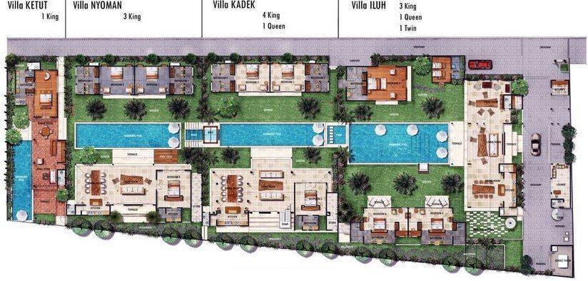 Abaca Villas Floorplan   Petitenget, Bali