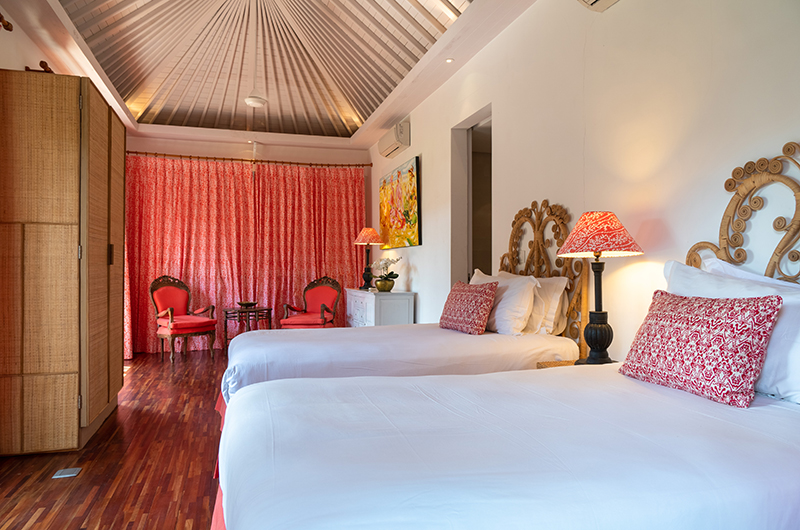 The Cotton House Twin Bedroom with Lamps | Seminyak, Bali