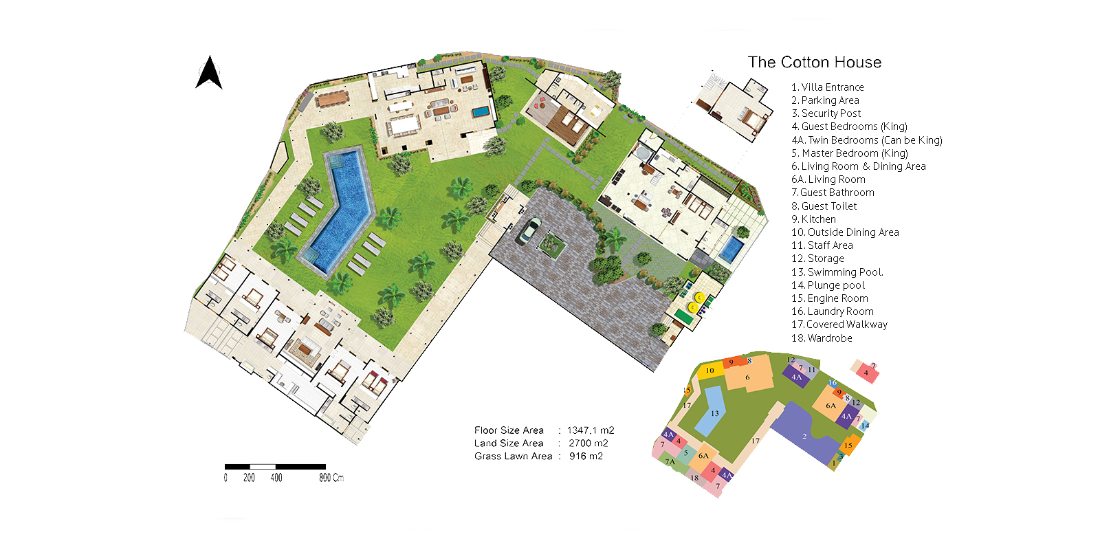 The Cotton House Floor Plan | Seminyak, Bali
