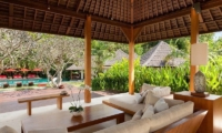 Villa Beji Indoor Living Area with Pool View | Canggu, Bali