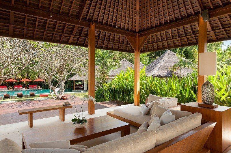 Villa Beji Indoor Living Area with Pool View   Canggu, Bali