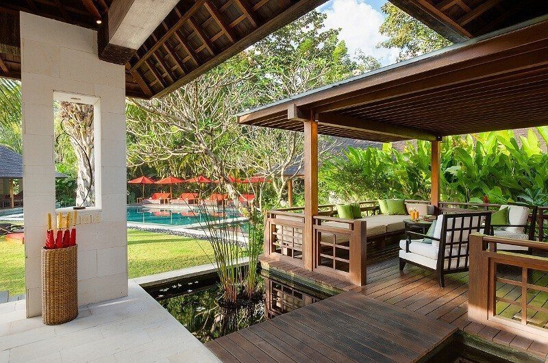 Villa Beji Pool Side Lounge Area   Canggu, Bali
