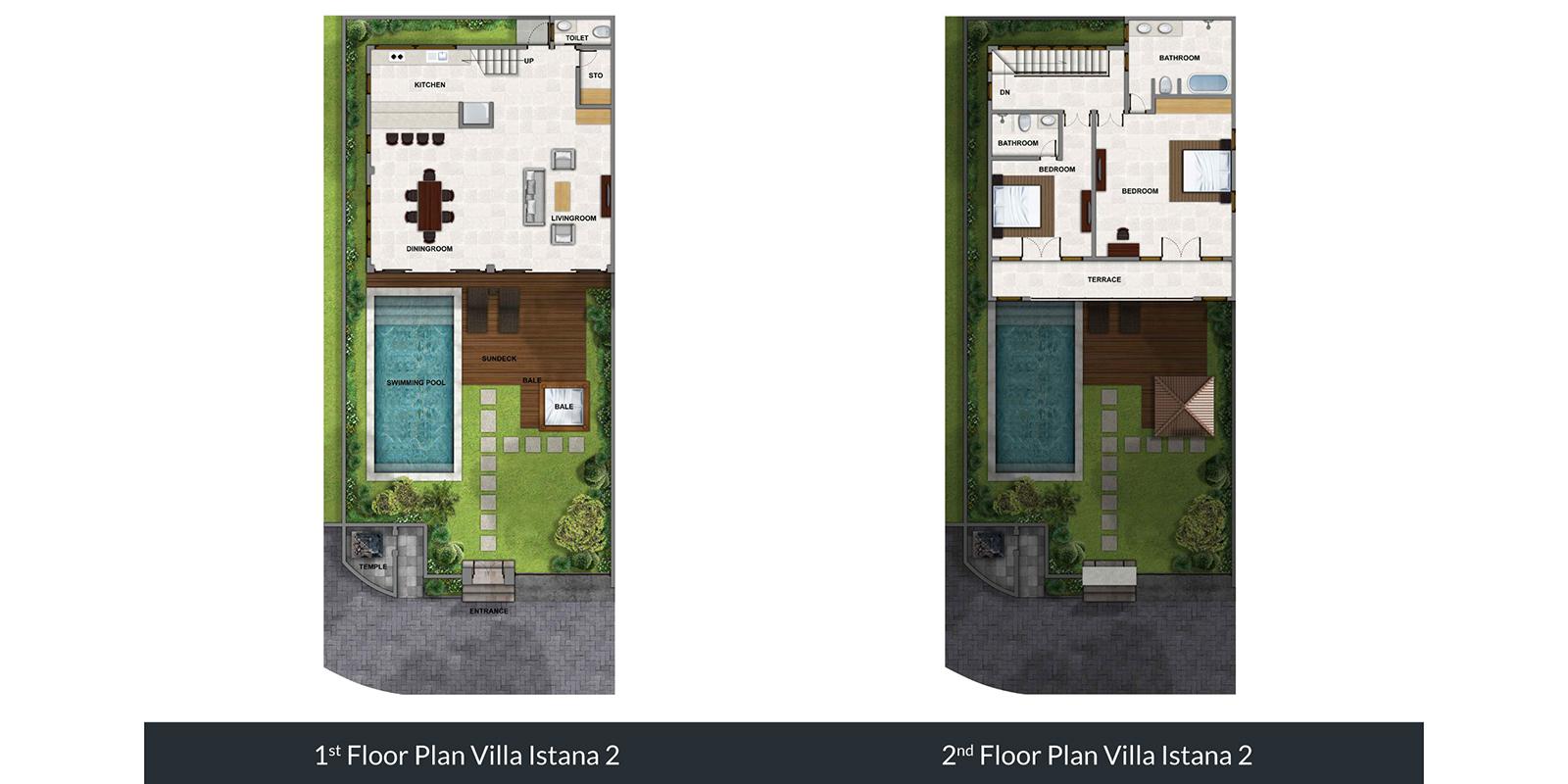 Villa Istana Dua Floor Plan | Seminyak, Bali