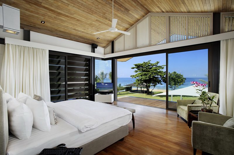 Sava Beach Villas Villa Cielo Bedroom with TV | Natai, Phang Nga