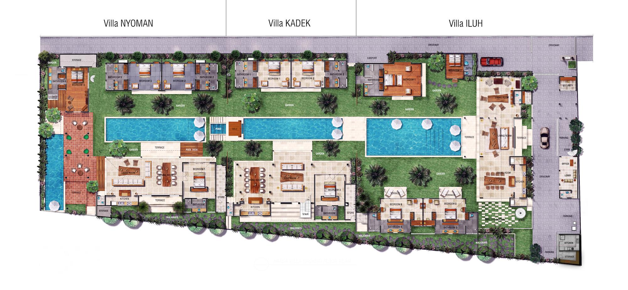 Abaca Villas Floorplan - Ground Floor