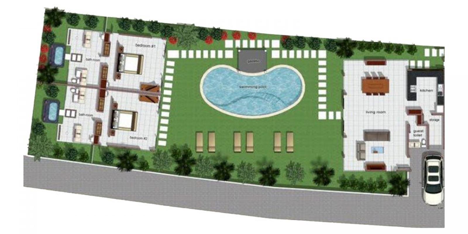 Villa Alice Dua Floor Plan | Seminyak, Bali