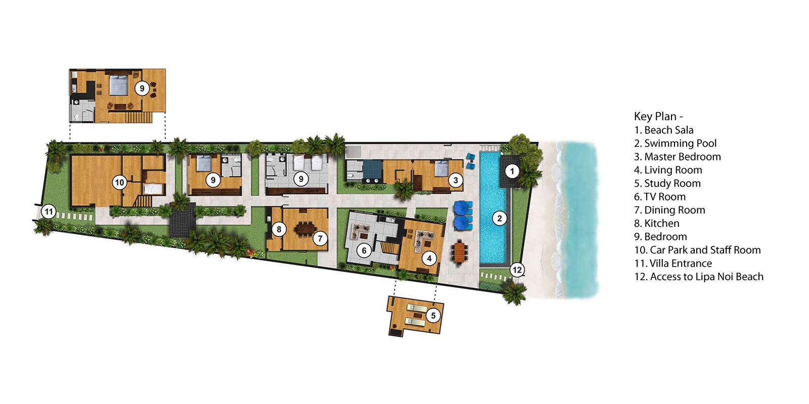 Akuvara Floorplan | Lipa Noi, Koh Samui