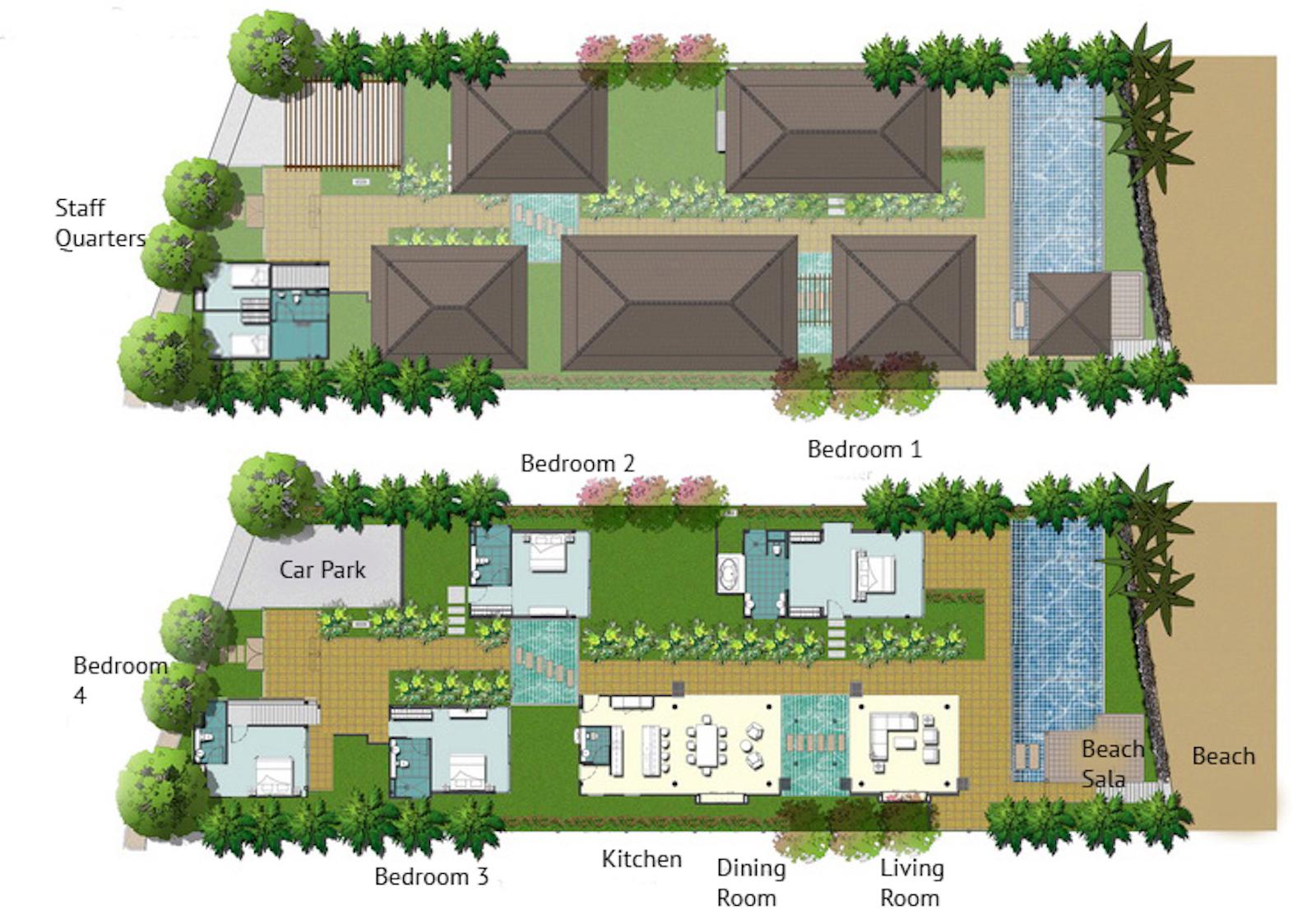 Baan Ban Buri Floor Plan   Bophut, Koh Samui