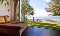 The Emerald Beach Villa 4 Living Area with Sea View | Bang Por, Koh Samui