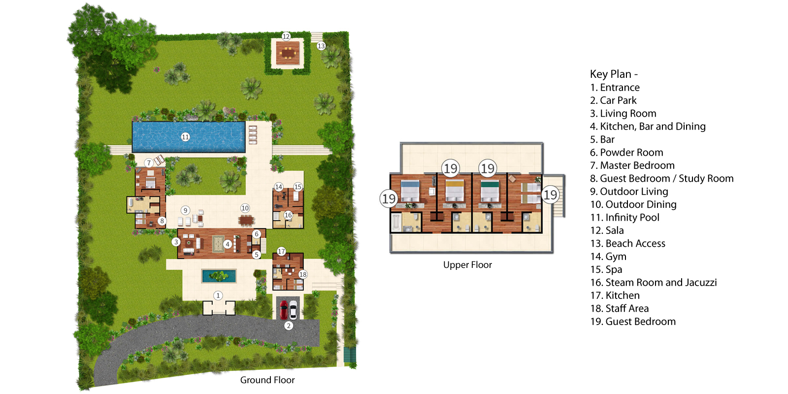 Baan Taley Rom Floorplan | Natai, Phang Nga