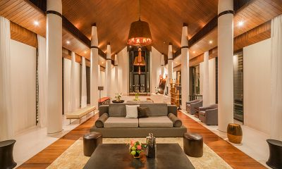 Baan Maprao Living Area with Wooden Floor | Cape Yamu, Phuket