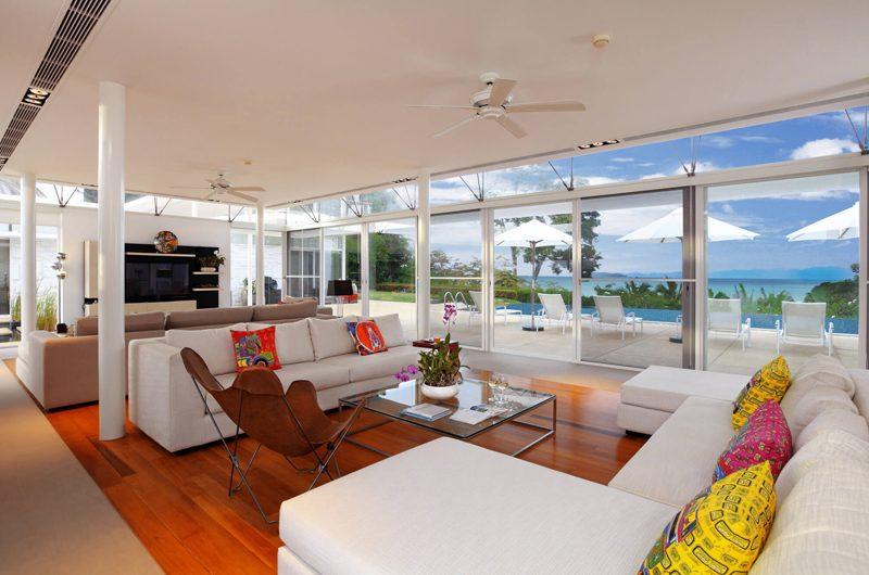 Villa Sapna Indoor Living Area with Pool View   Cape Yamu, Phuket