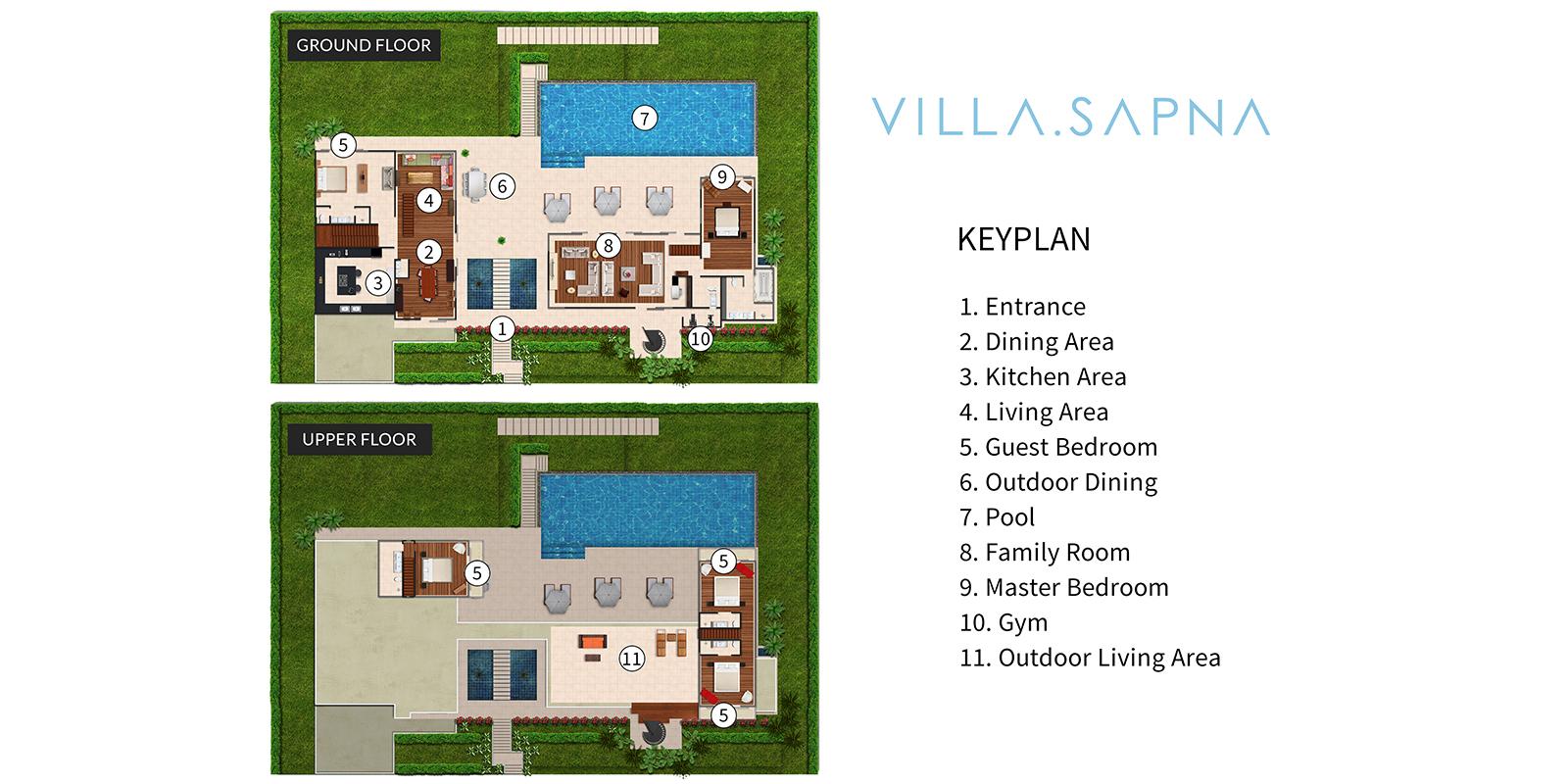 Villa Sapna Floor Plan   Cape Yamu, Phuket