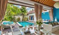 4s Villas Villa Sea Indoor Living Area with Pool View | Seminyak, Bali
