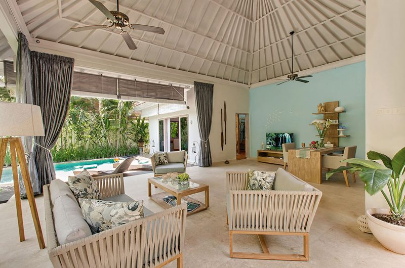 4s Villas Villa Sky Living Area with Pool View | Seminyak, Bali