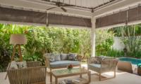 4s Villas Villa Sky Indoor Living Area with Pool View | Seminyak, Bali
