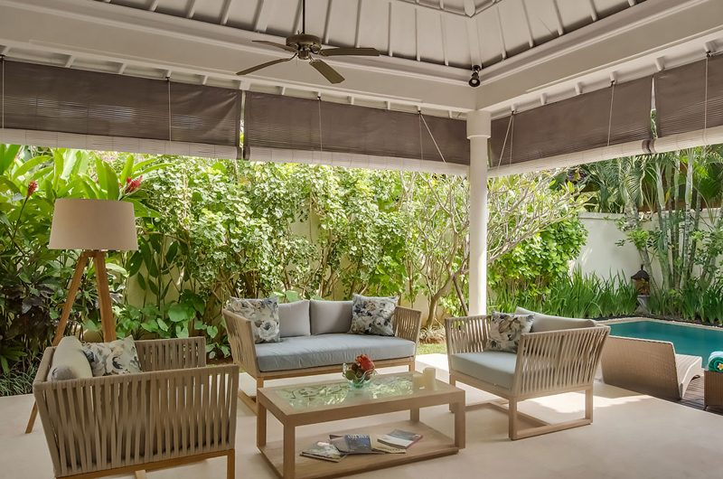 4s Villas Villa Sky Indoor Living Area with Pool View | Seminyak, Bali