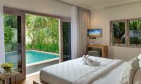 4s Villas Villa Sky Bedroom with Pool View | Seminyak, Bali
