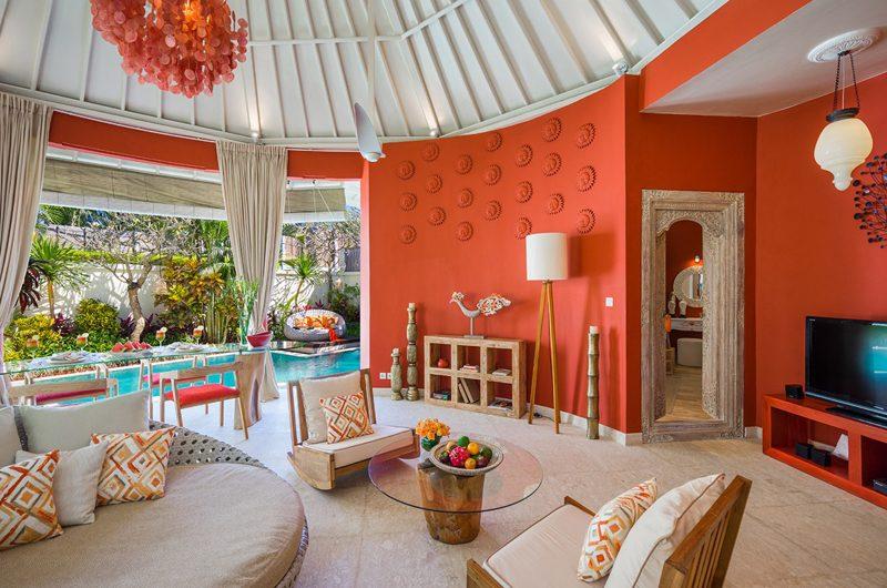 4s Villas Villa Sun Indoor Living Area with Pool View | Seminyak, Bali