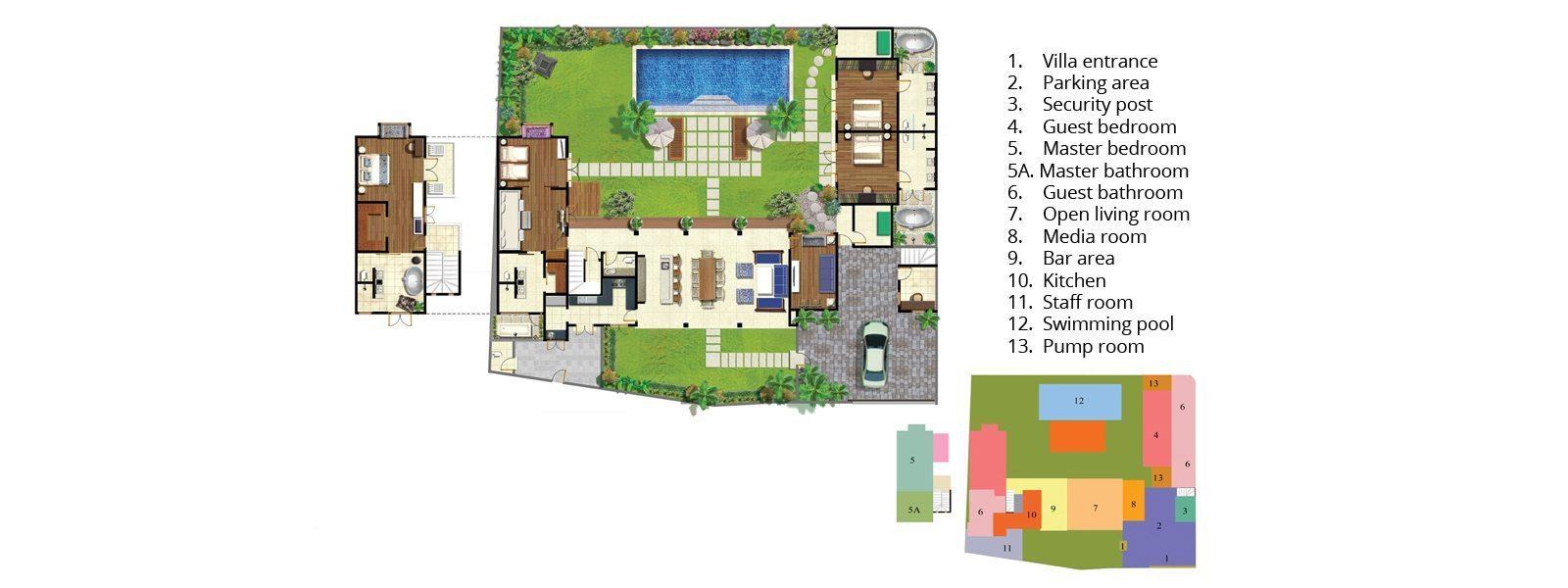 Villa Iluka Floorplan | Seminyak, Bali