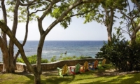The Fleming Villa Beach Front Seating | Oracabessa, Jamaica