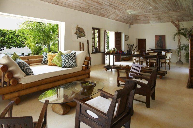 The Fleming Villa Living Room | Oracabessa, Jamaica