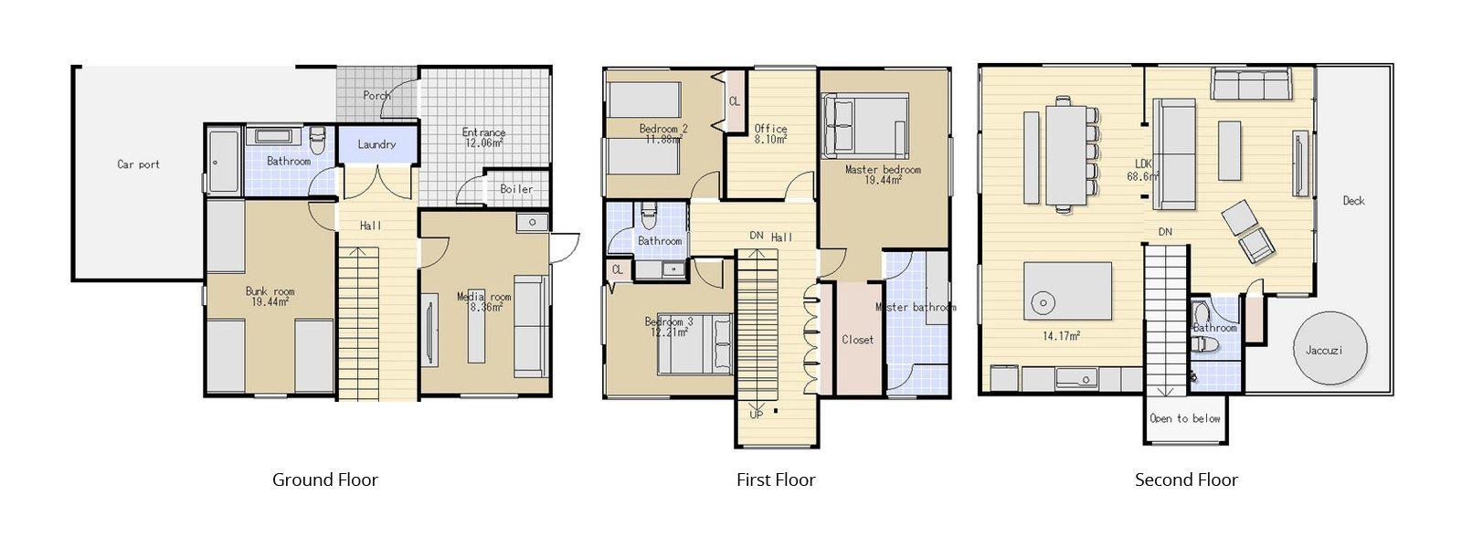 Gustavs Hideaway Floorplan | Hirafu, Niseko