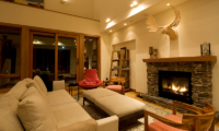 Annabel Living Room with Fire Place | Hirafu, Niseko