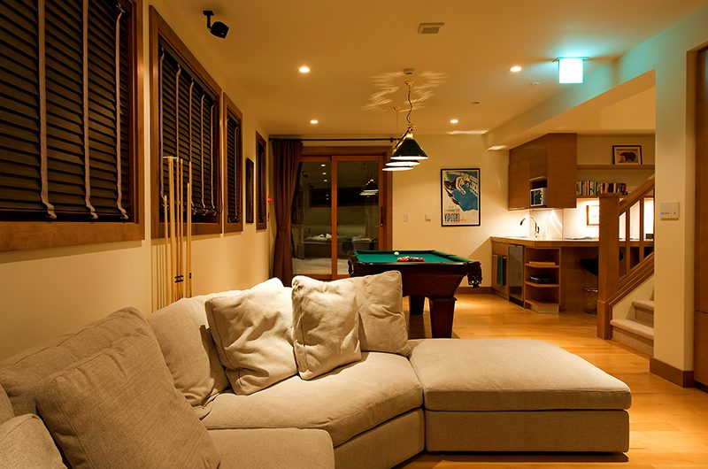 Annabel Living Area with Pool Table | Hirafu, Niseko