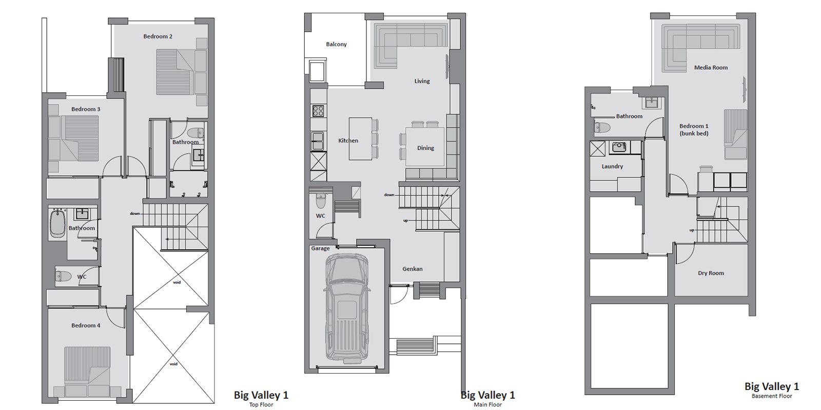 Big Valley Floor Plan | Hirafu, NIseko