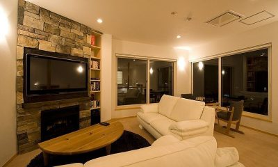 Birch Grove Living Room | Lower Hirafu Village, Niseko