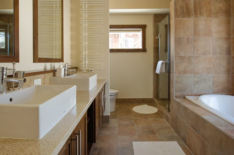 Eliona His and Hers Bathroom | Lower Hirafu Village, Niseko