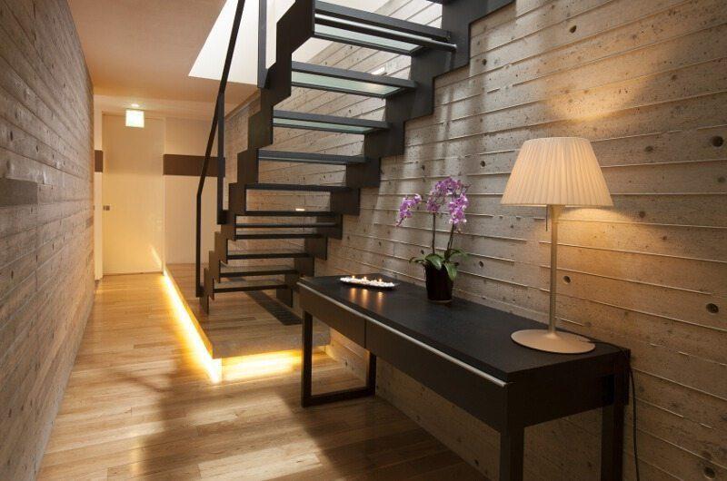 Glass House Staircase | Lower Hirafu Village, Niseko