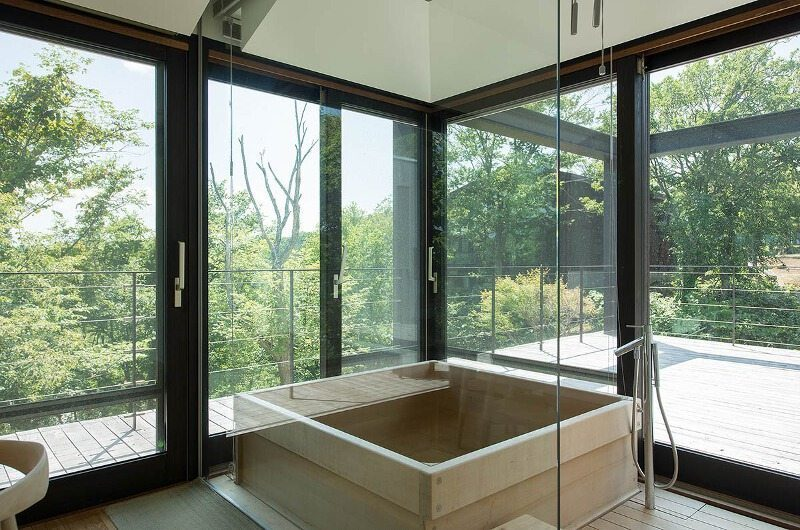Glass House Bathroom | Lower Hirafu Village, Niseko