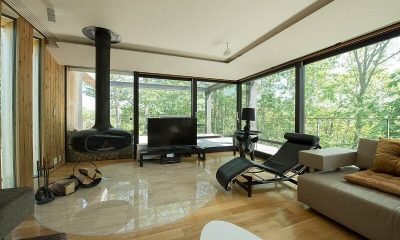 Glass House Living Room | Lower Hirafu Village, Niseko