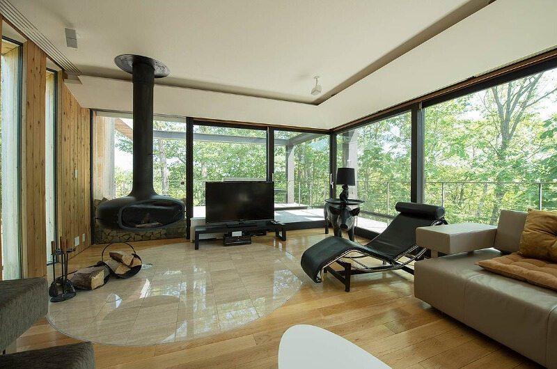 Glass House Living Room   Lower Hirafu Village, Niseko