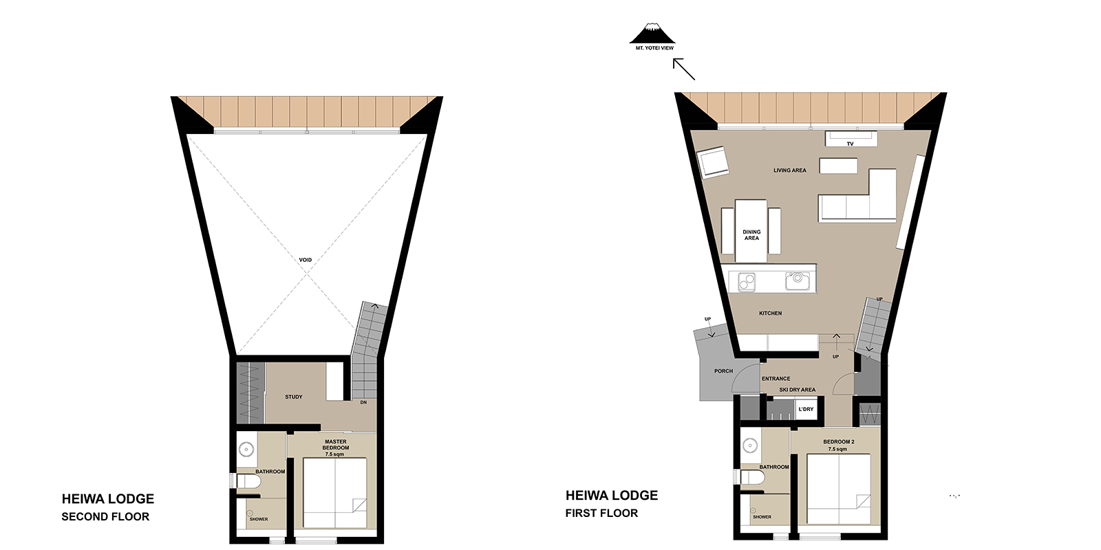 Heiwa Lodge Floorplan | HIrafu, Niseko