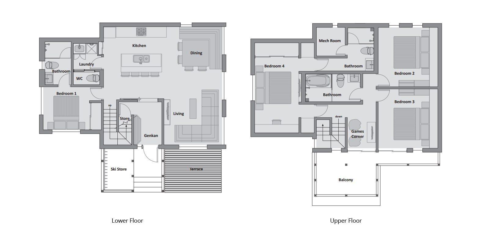 Karamatsu Floorplan | Hirafu, Niseko