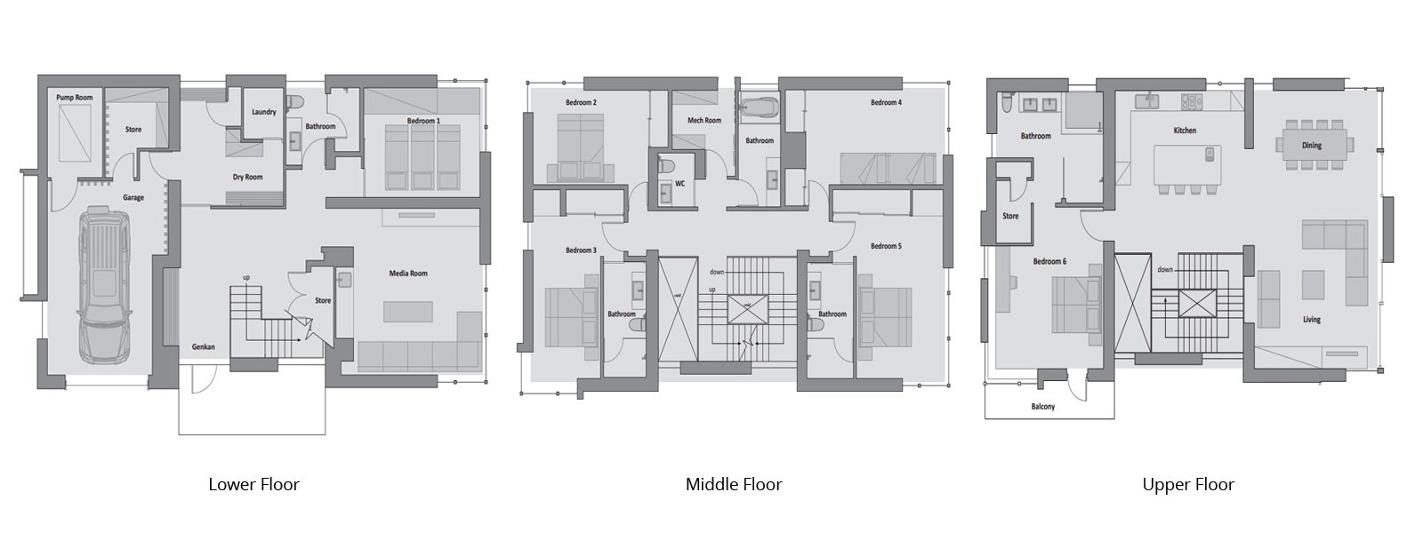 Kasetsu Floorplan | Hirafu, Niseko