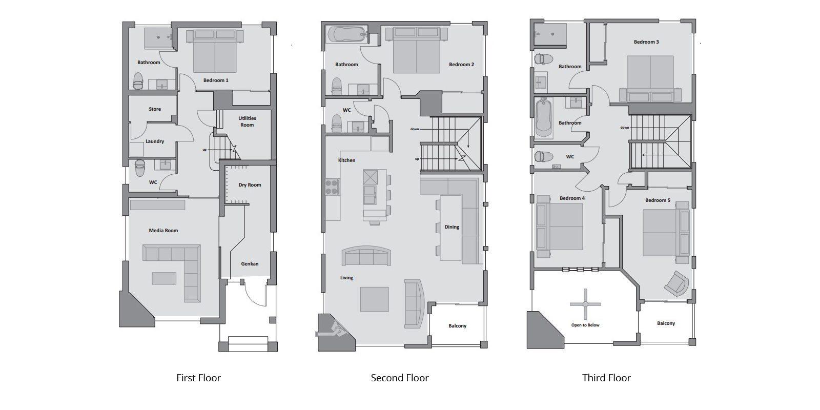 Konayuki Floorplan   Hirafu, Niseko