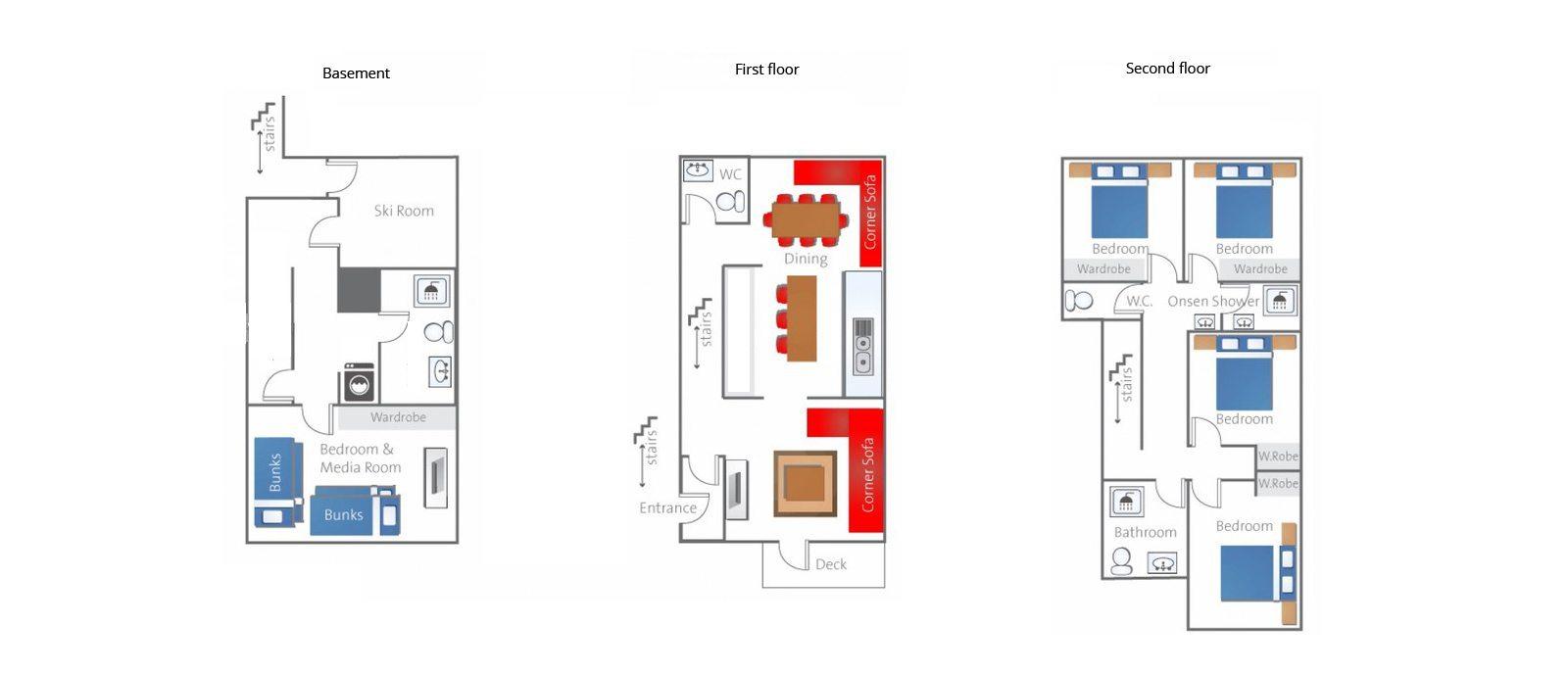 Neyuki Townhouses Floorplan | Hirafu, Niseko
