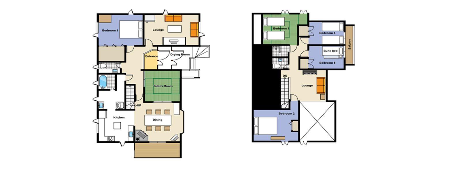 Powderhound Lodge Floorplan | Hirafu, Niseko