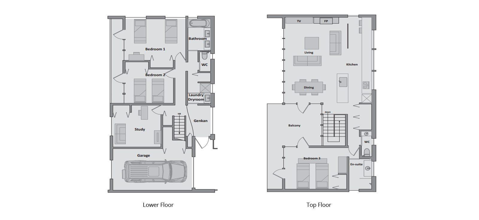 Tokubetsu Floorplan | Hirafu, Niseko