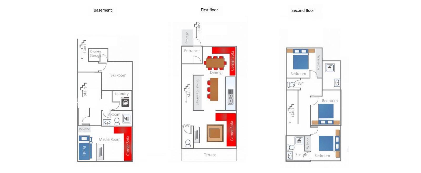 Toshokan Townhouses Floorplan | Hirafu, Niseko