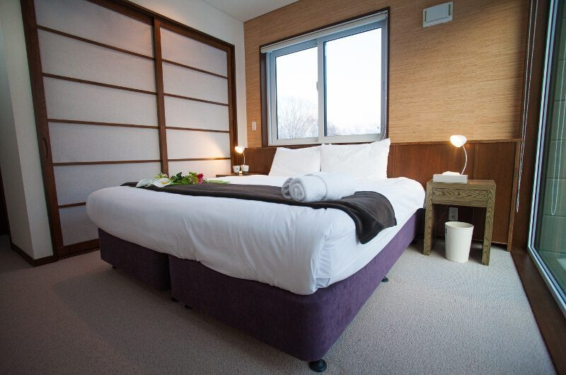 Toshokan Townhouses Bedroom Two Front View | Middle Hirafu Village, Niseko