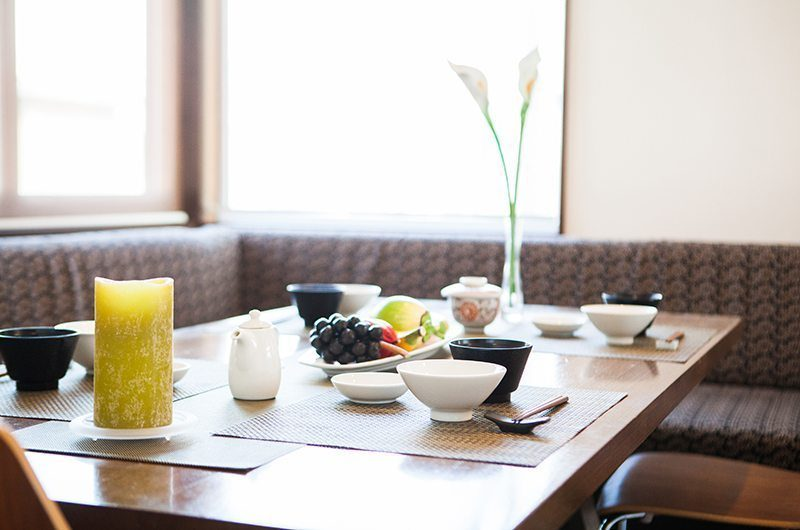 Toshokan Townhouses Dining Area | Middle Hirafu Village, Niseko