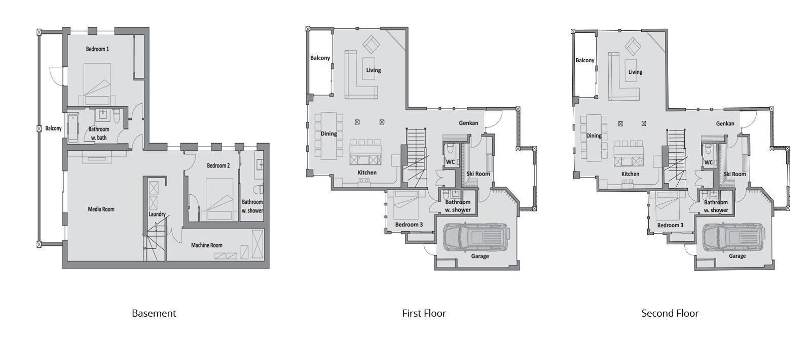 Zekkei Floorplan | Hirafu, Niseko
