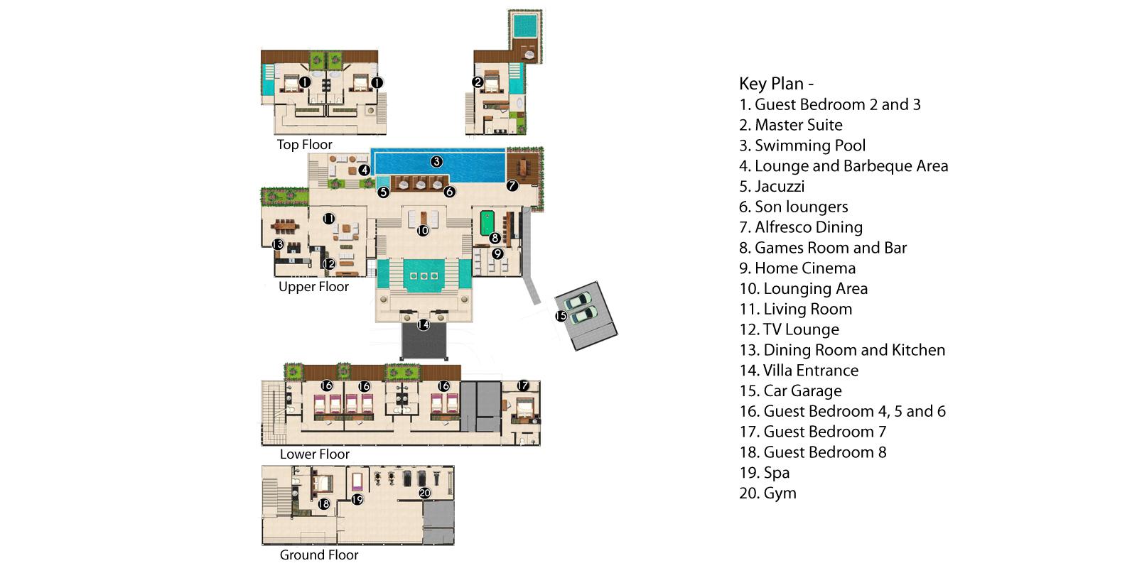 Villa Saan Floorplan | Kamala, Phuket