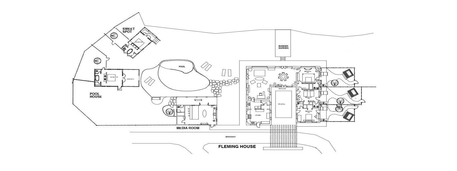 The Fleming Villa Floorplan | Oracabessa, Jamaica