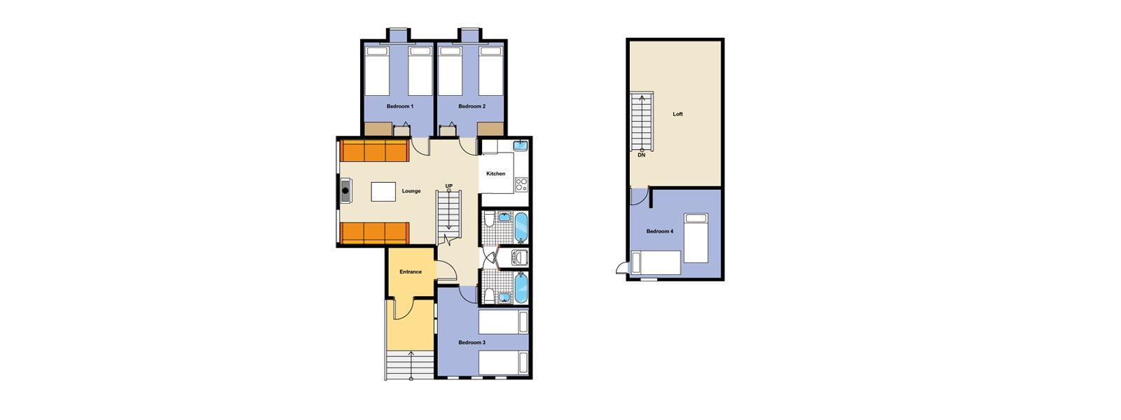 Jurin Cottage Floorplan | Izumikyo 1, Niseko
